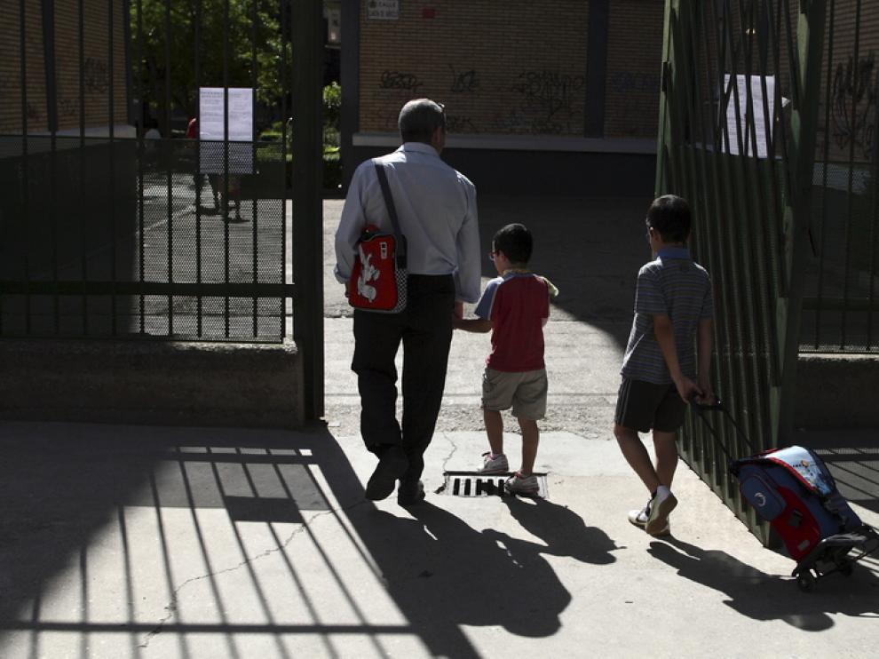 Imagen de archivo del colegio Eugenio López, uno de los últimos que ha cambiado el horario