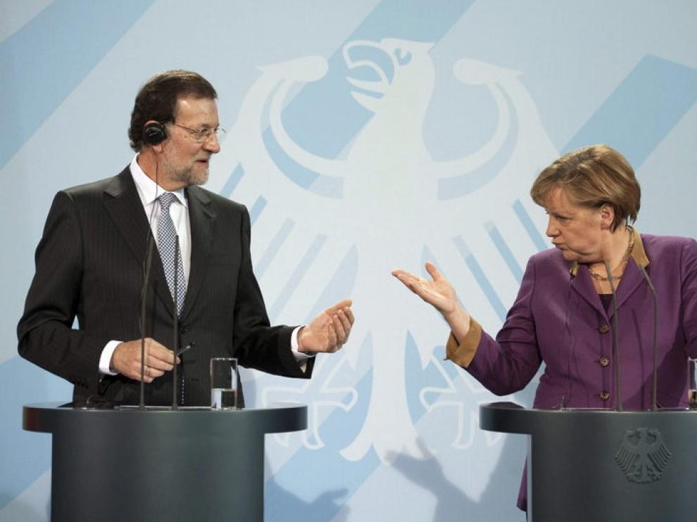 Merkel y Rajoy, en Berlín
