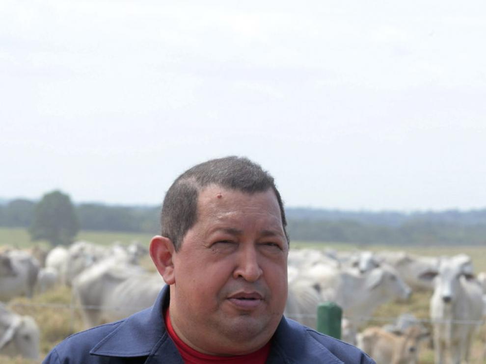 Hugo Chávez durante su programa dominical 'Aló Presidente'