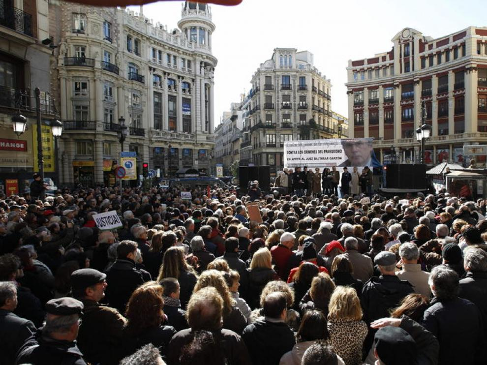 A la concentración acudieron miles de personas