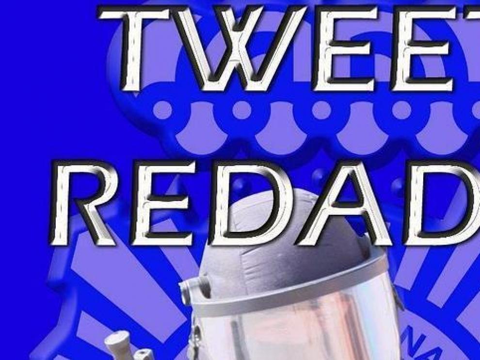 Imagen facilitada por la Policía Nacional con la que anunciaba su «tweet-redada»