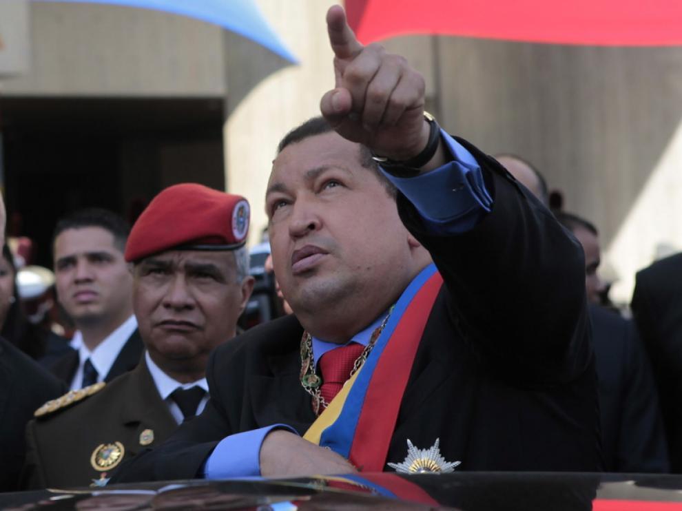 Chávez durante una ceremonia en Caracas.