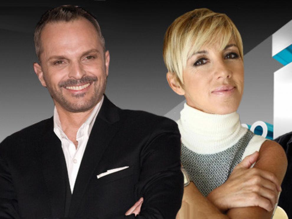 Sergio Dalma, Miguel Bosé y Ana Torroja, jurado de 'El Número Uno'.