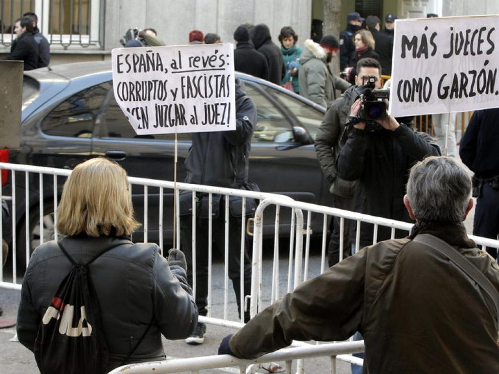 Imagen de las afueras del Tribunal Supremo
