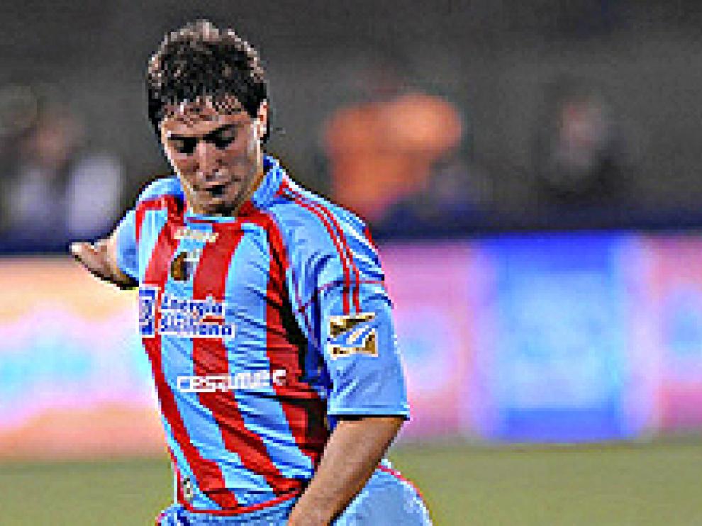 Álvarez, en uno de sus últimos partidos con el Catania