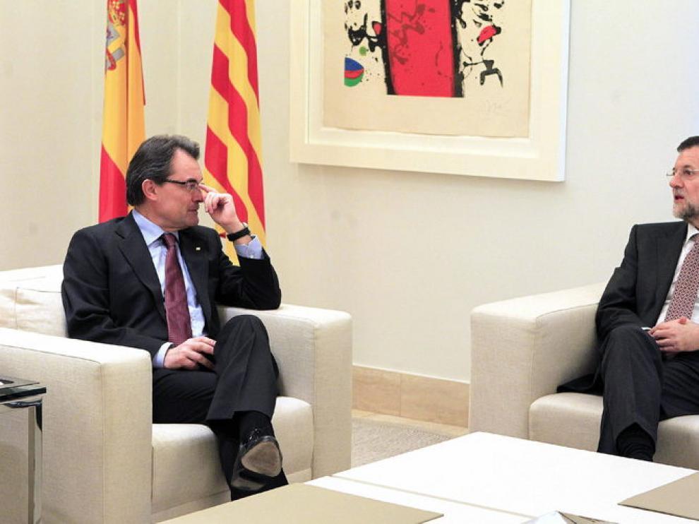 Rajoy y Mas, en La Moncloa
