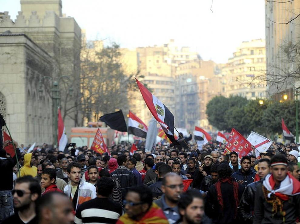 Manifestaciones de egipcios tras la tragedia en Port Said