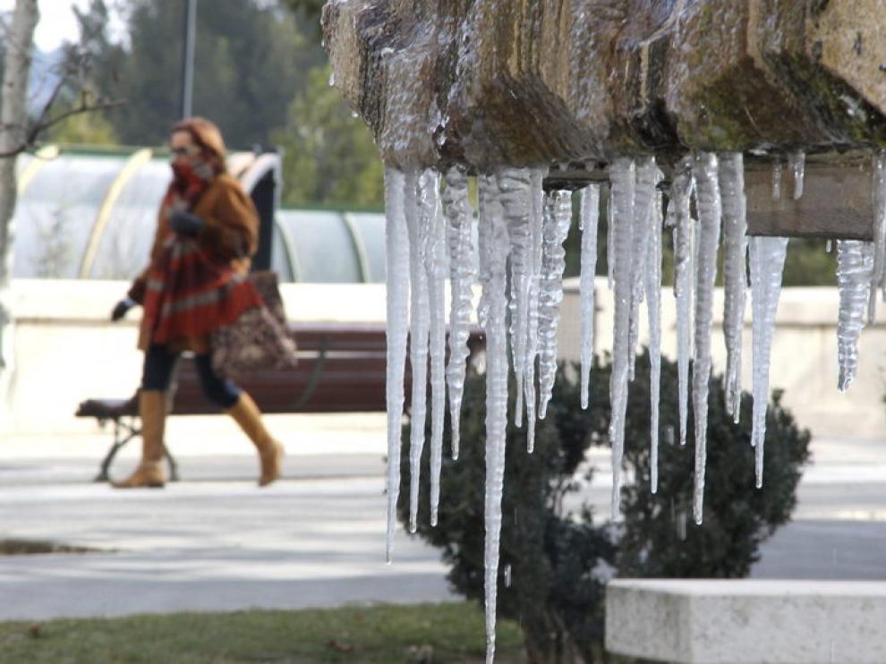 El frío se siente con fuerza en Teruel