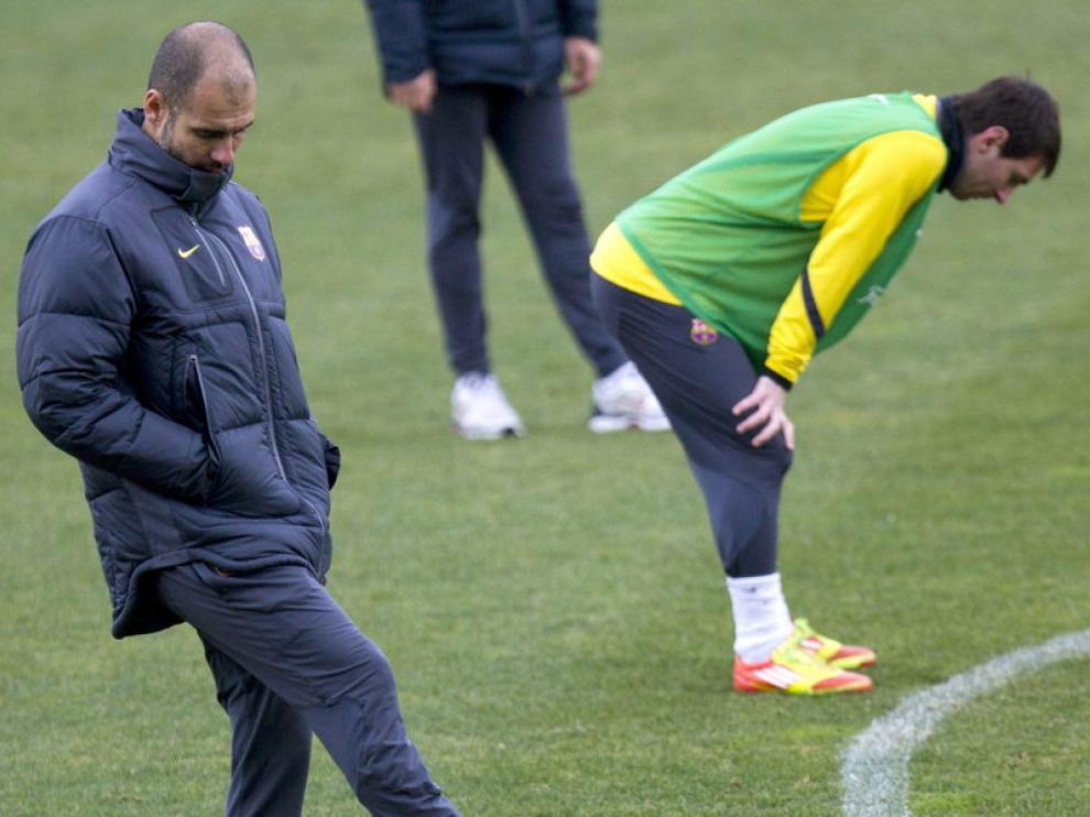 Imagen del entrenamiento del FC Barcelona antes del encuentro ante la Real Sociedad.