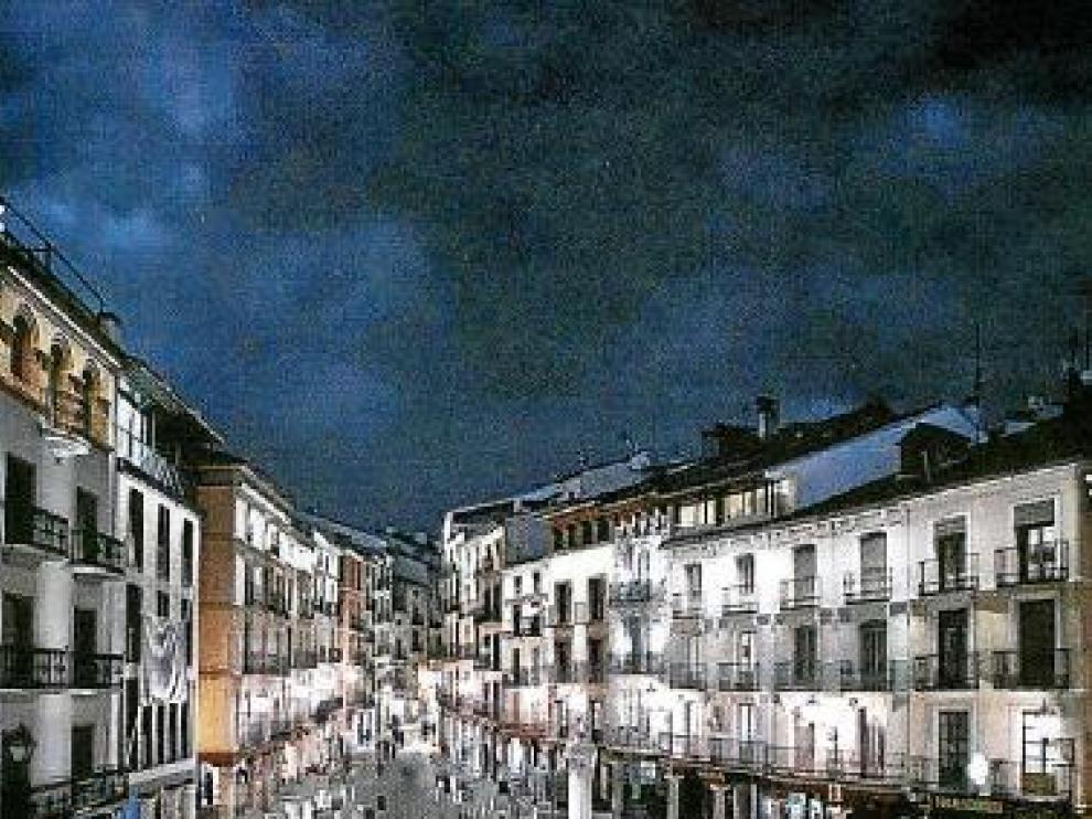 Simulación infográfica del resultado final de la reforma de la plaza.