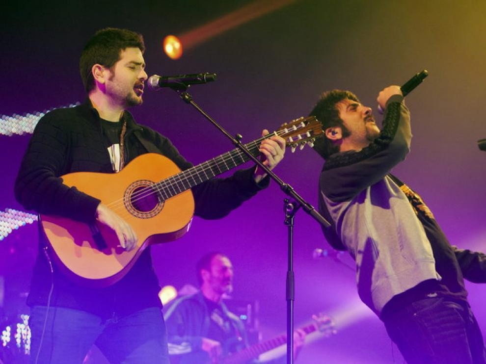 Los hermanos Muñoz, el viernes en Zaragoza
