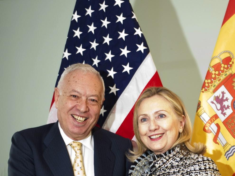José Manuel García-Margallo y Hillary Clinton