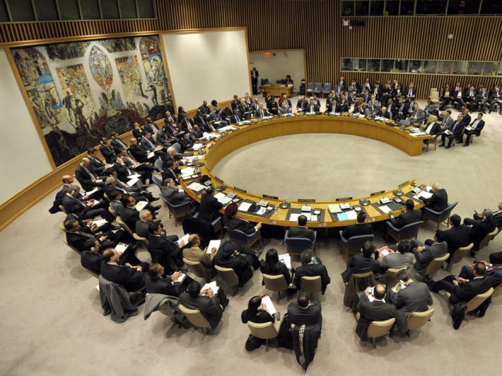 Imagen de archivo de una reunión en la ONU sobre la situación en Siria