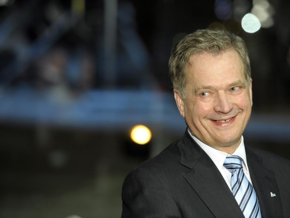 El candidato del partido conservador Kokoomus, Sauli Niinistö