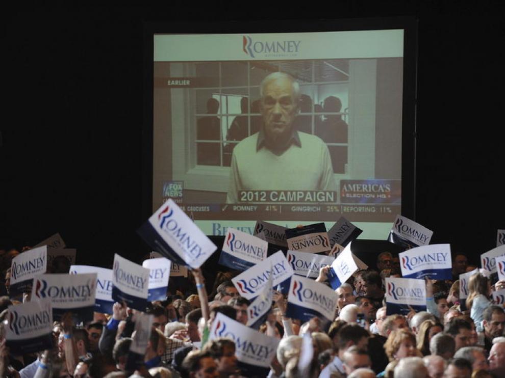 Seguidores de Romney, en Nevada