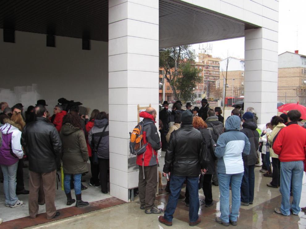 Manifestación de los vecinos de Torrero este domingo por la mañana