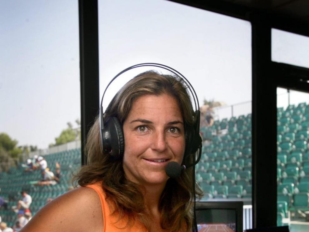 La extenista Arantxa Sánchez Vicario