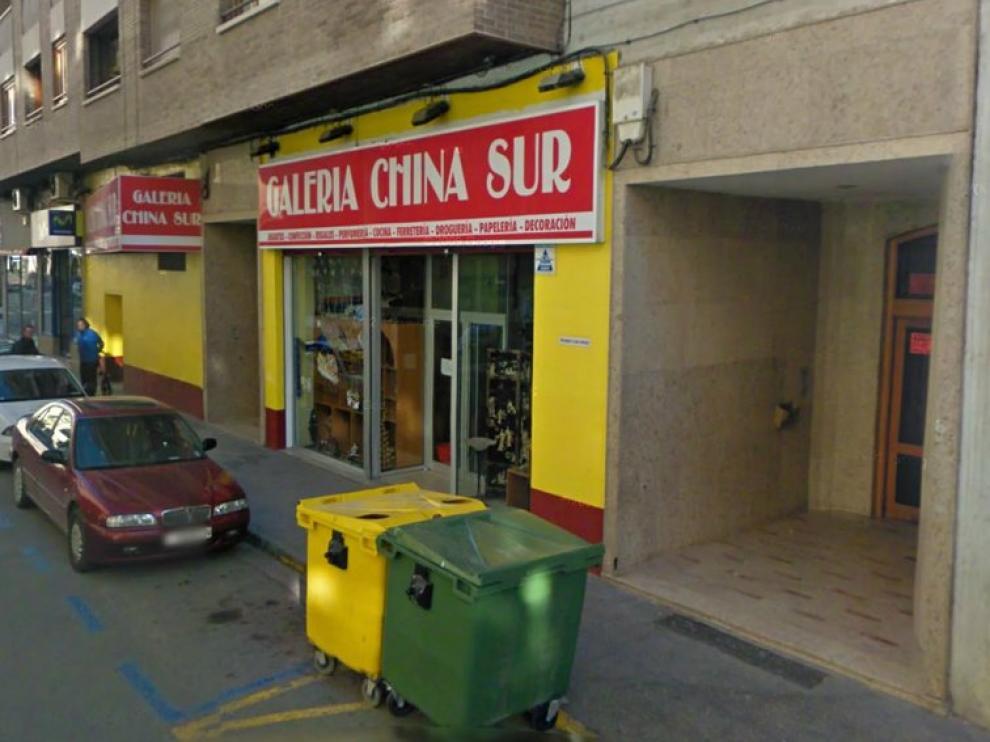 Imagen de un bazar chino en Calatayud
