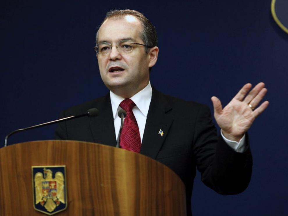 El ya exprimer ministro Emil Boc