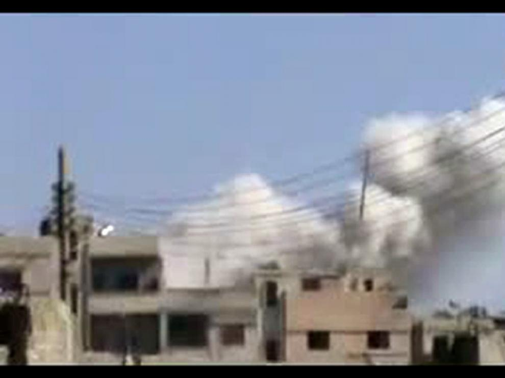 Bombardeo en Homs
