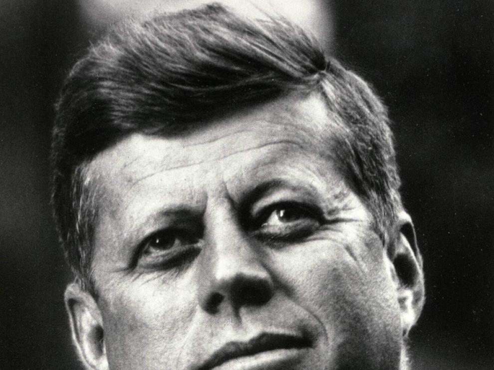 John F. Kennedy, imagen de archivo.