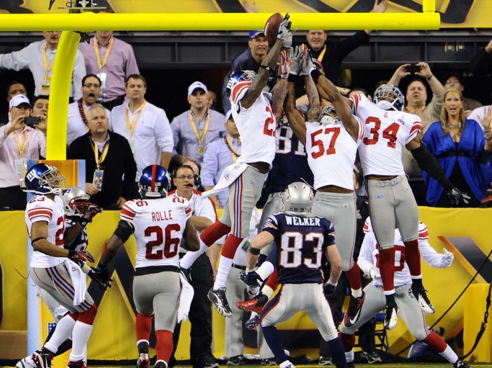Imagen del partido entre los Giants y los Patriots