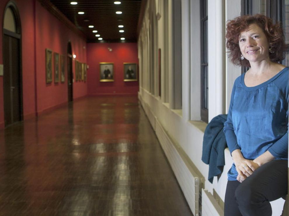 Iciar Bollaín, en el Paraninfo de la Universidad de Zaragoza