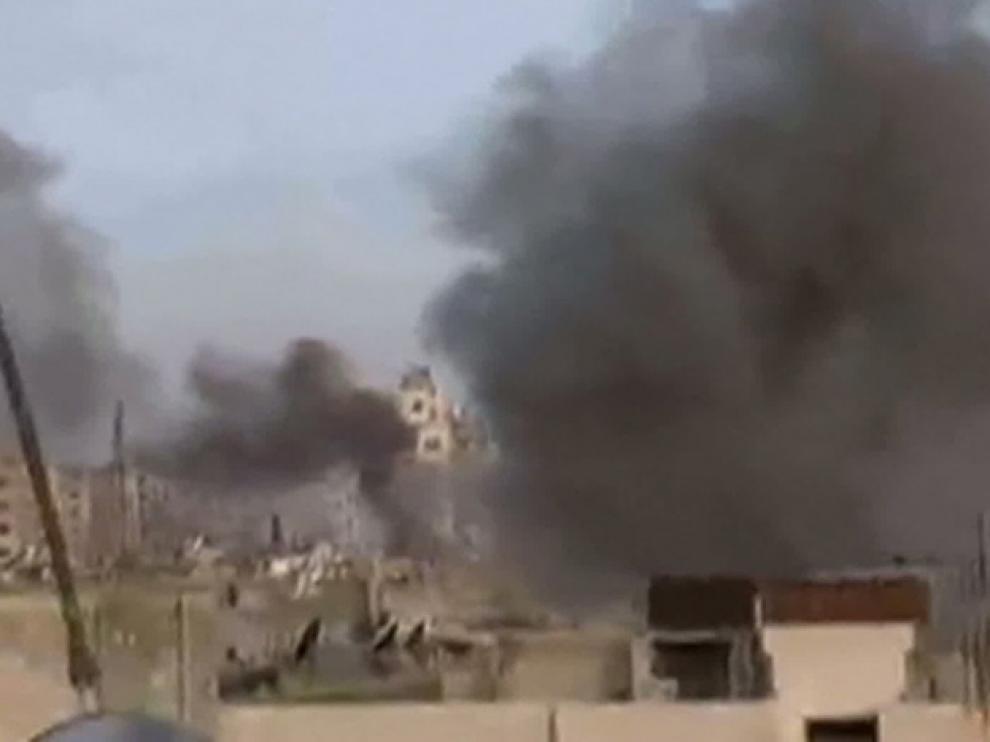 Captura de un vídeo de Youtube de la ciudad de Homs