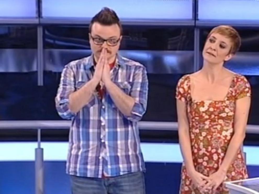 Ignacio y Eva Hache, en 'Atrapa un millón'