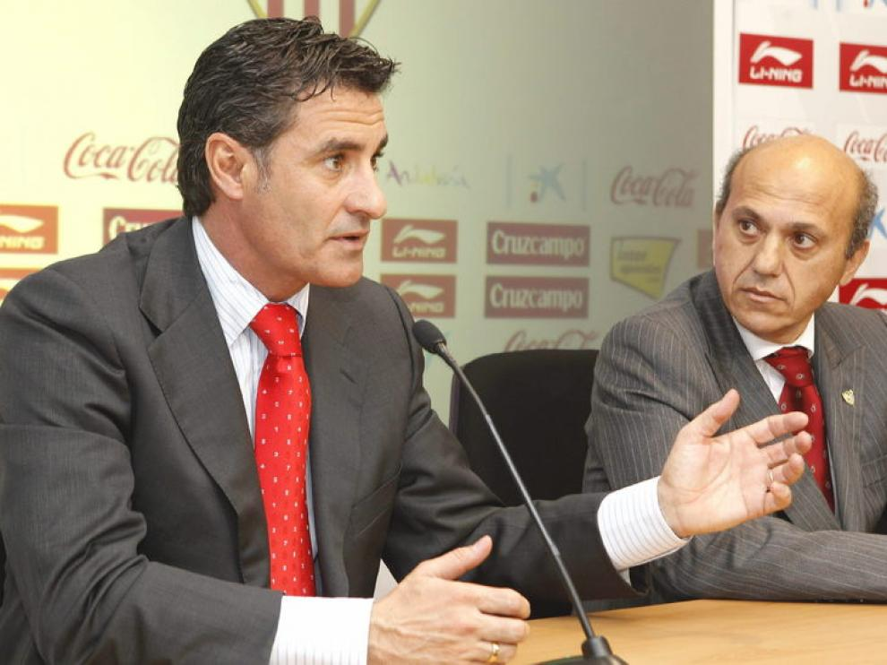 Presentación de Míchel en Sevilla