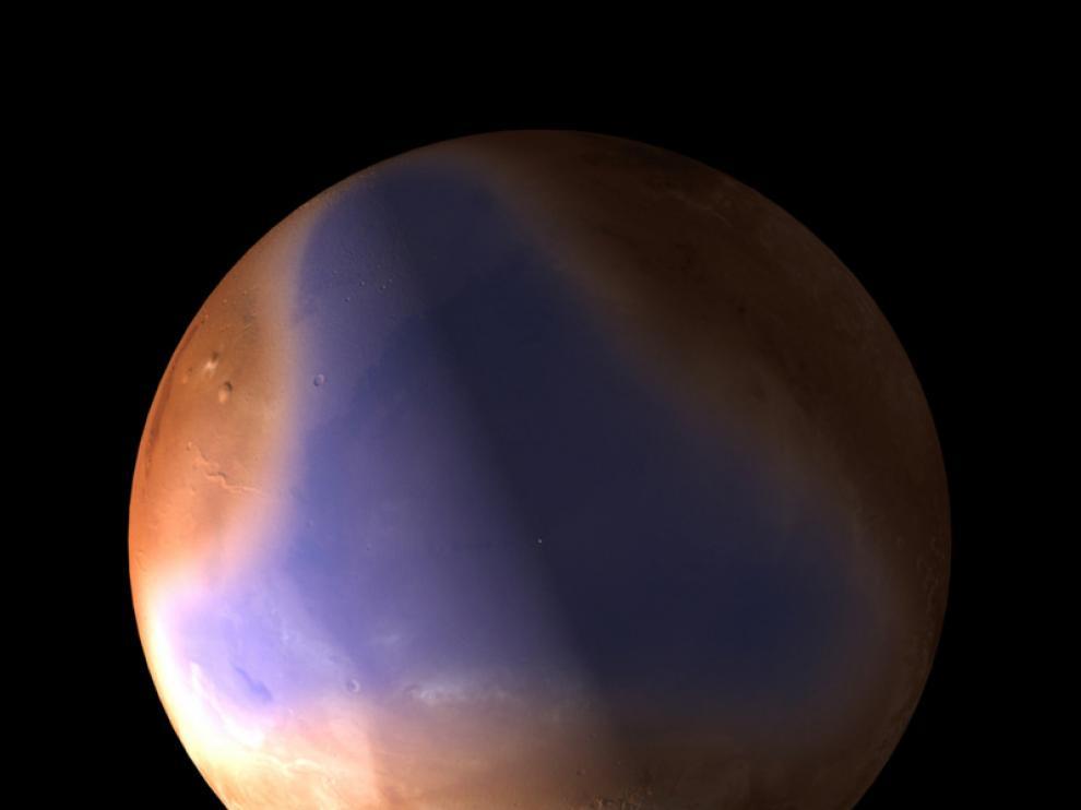 Imagen captada por la Mars Express