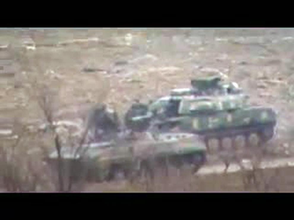 Tanques del ejército sirio