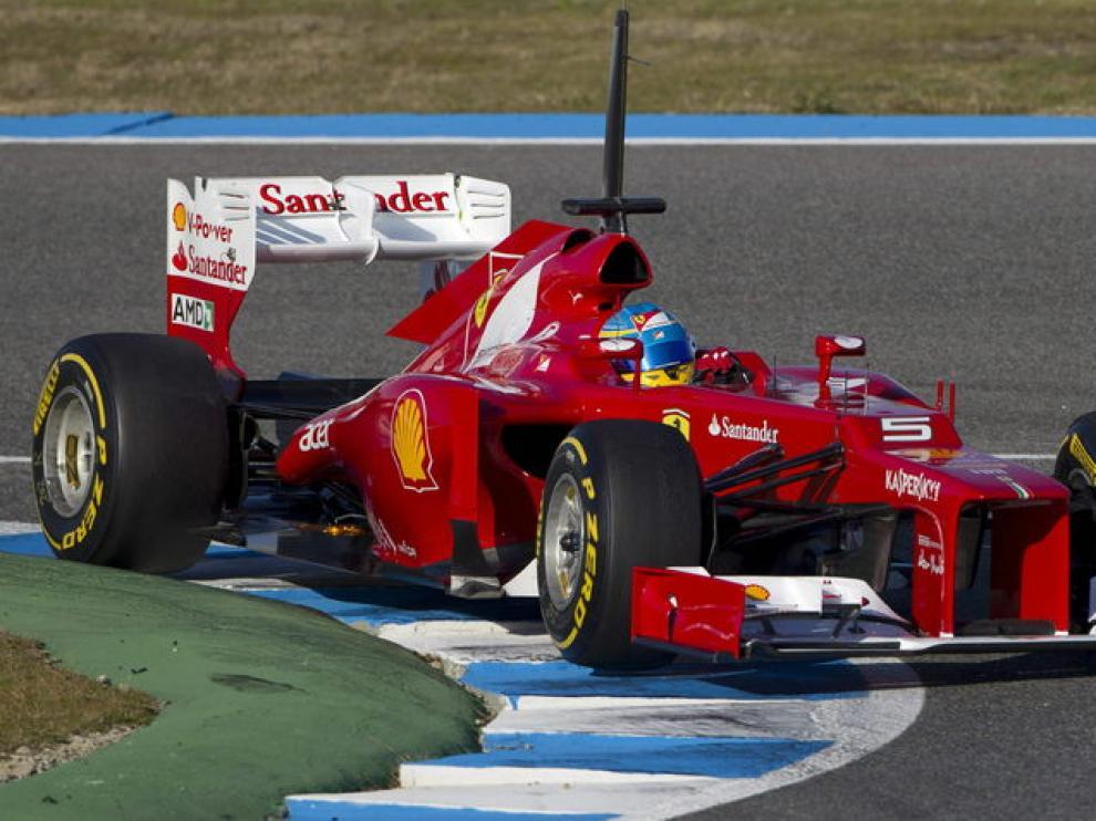 Alonso, en Jerez