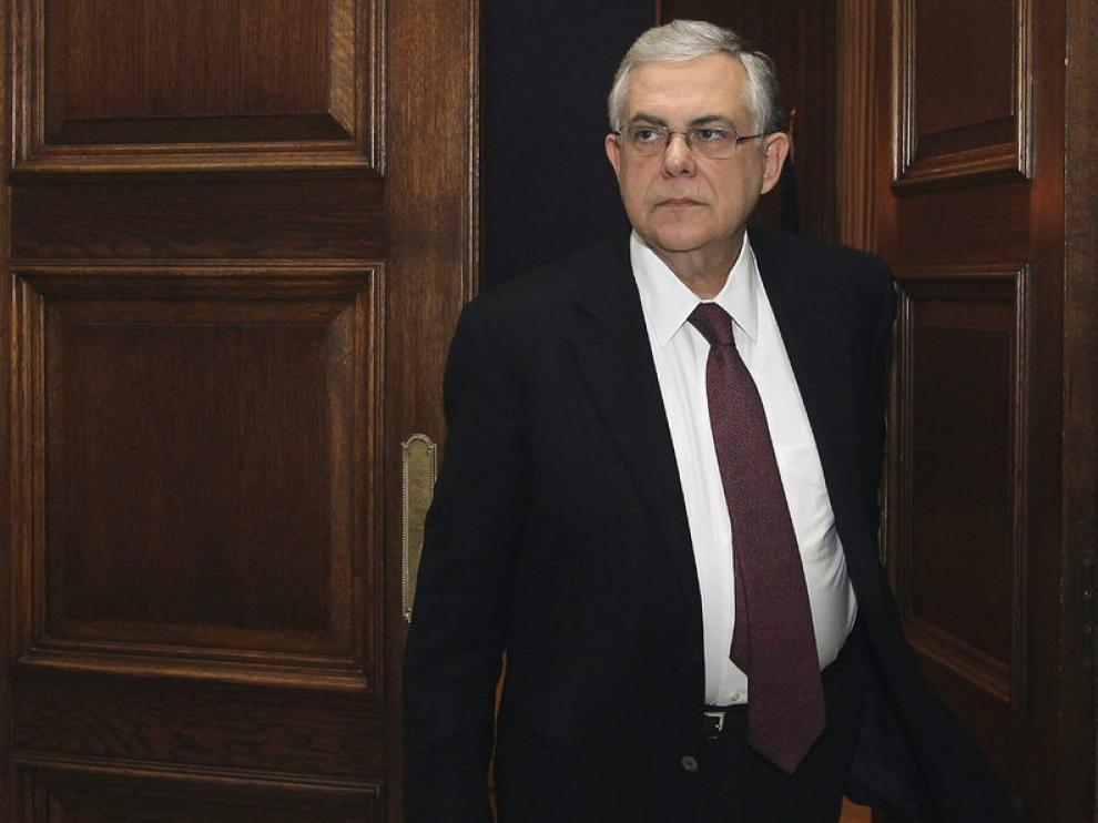 El presidente heleno, Lukas Papademos
