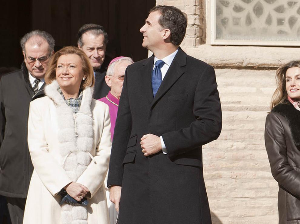 Visita de los Príncipes a la catedral de Tarazona