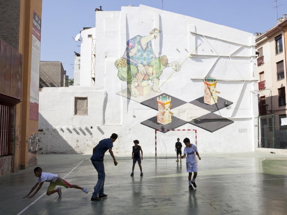 Espacio deportivo en el barrio del Gancho
