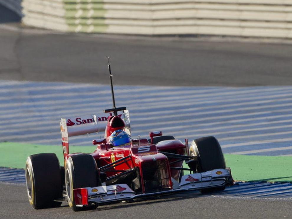 Fernando Alonso, en Jerez