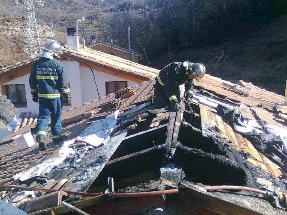Incendio en una vivienda en Huesca