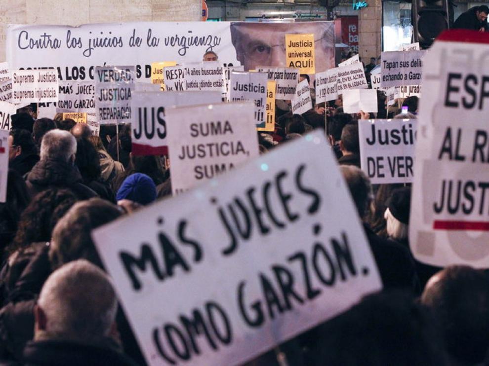 Protesta en Madrid contra la decisión del TS