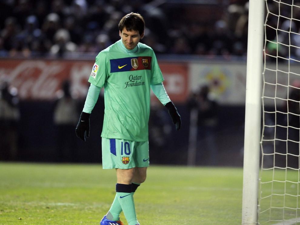 Messi se lamenta de la derrota