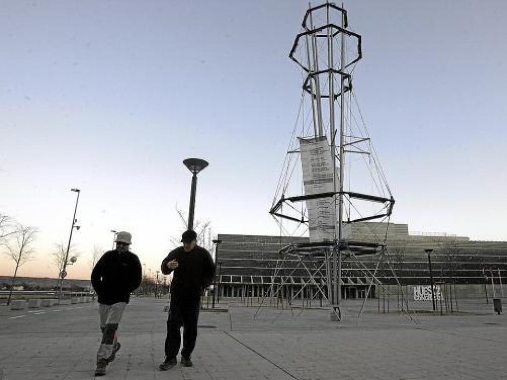 El programa se puede ver en la estructura ubicada en la explanada del Palacio de Congresos.