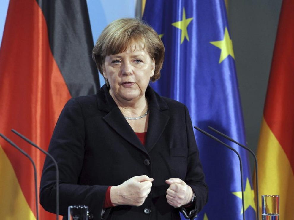 La canciller alemana, Angela Merkel, califica la reforma laboral como modélica.