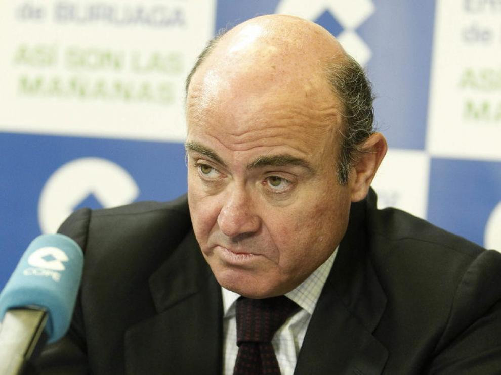 El ministro de Economía, Luís de Guindos, durante su entrevista en la COPE.