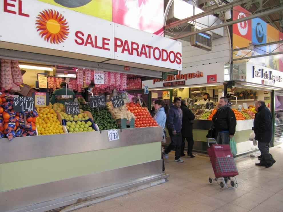 Fruterías del Mercado Central de Zaragoza