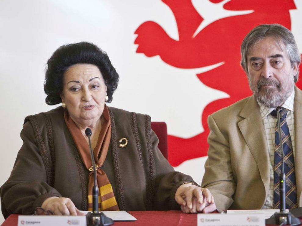 Montserrat Caballé y Juan Allberto Belloch
