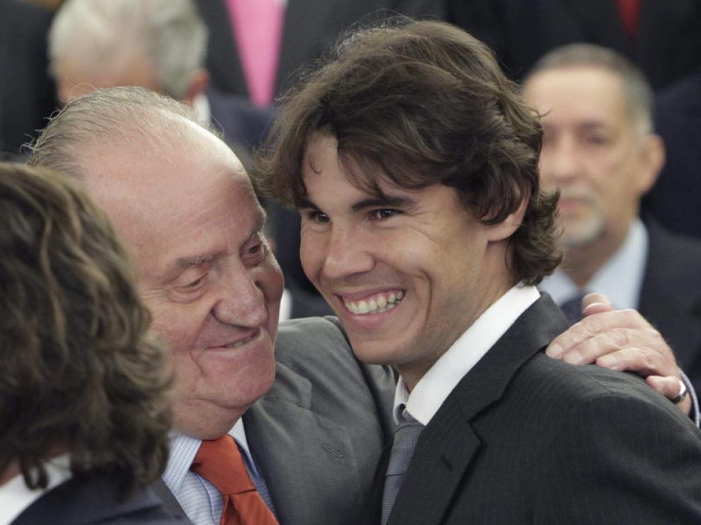 Rafa Nadal junto al Rey Juan Carlos