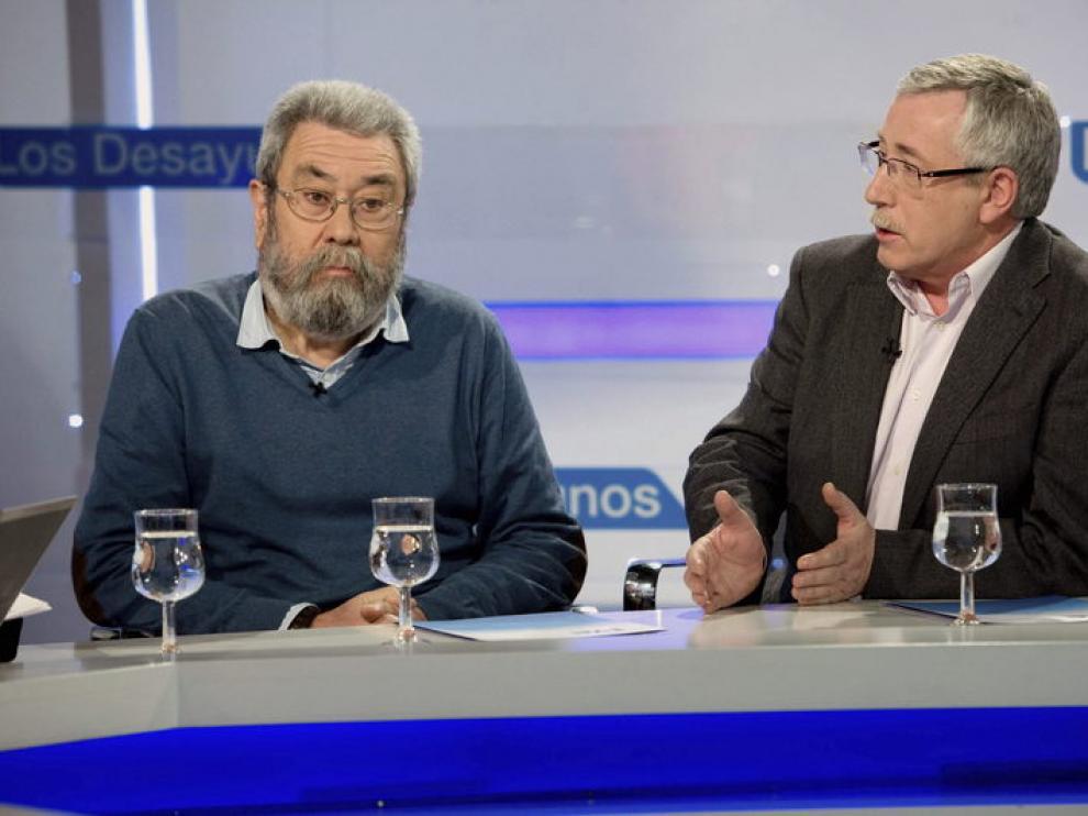 Cándido Méndez y  Ignacio Fernández Toxo