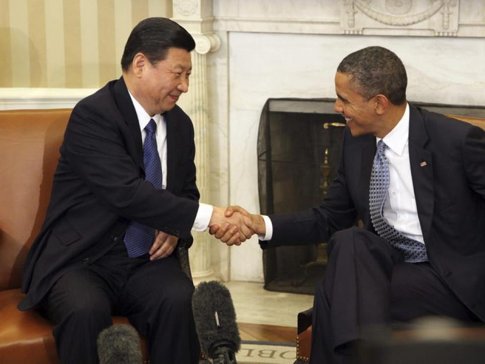 El vicepresidente chino y Obama durante su encuentro en la Casa Blanca.
