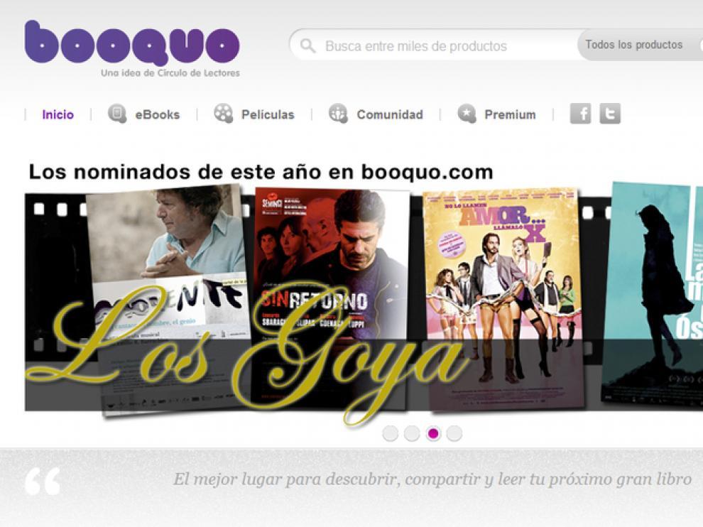 Página principal de Booquo