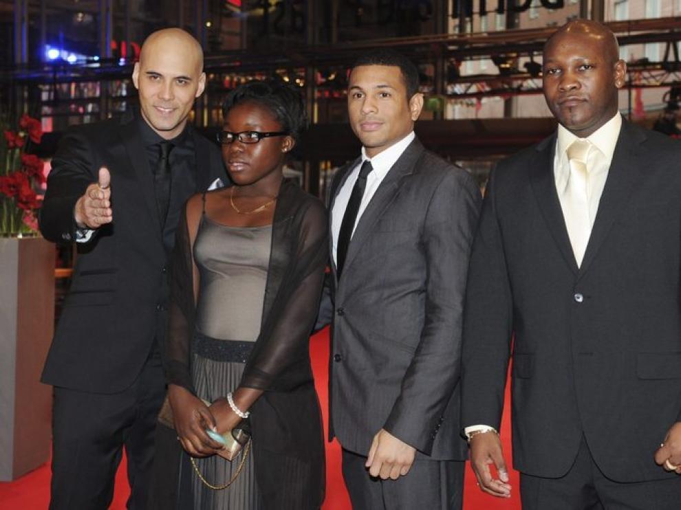 El realizador y los actores de 'Rebelle' en el Festival de Cine de Berlín.